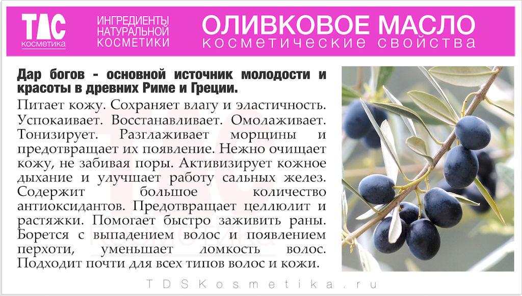 Оливковое масло Косметические свойства